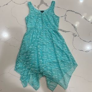 Lily Rose Turquoise Lacy Dress